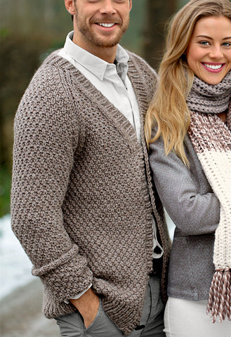 MADE TO ORDER Men hand knit cardigan 146A - KnitWearMasters