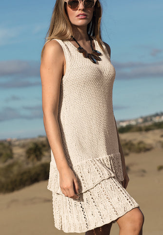 Women's Hand Knit Dress 107E - KnitWearMasters