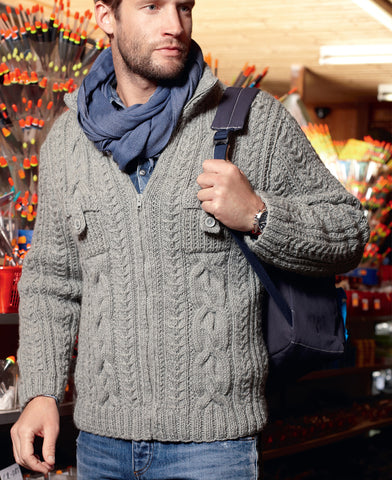 MADE TO ORDER Men hand knit cardigan 148A - KnitWearMasters