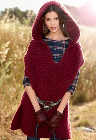 Womens Hand Knit Wool Cape 75N - KnitWearMasters