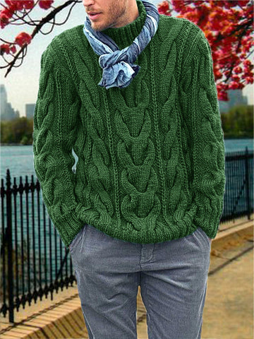 Men's Hand Knitted Turtleneck Sweater 38B