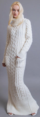 Women's Hand Knit Dress 22E - KnitWearMasters