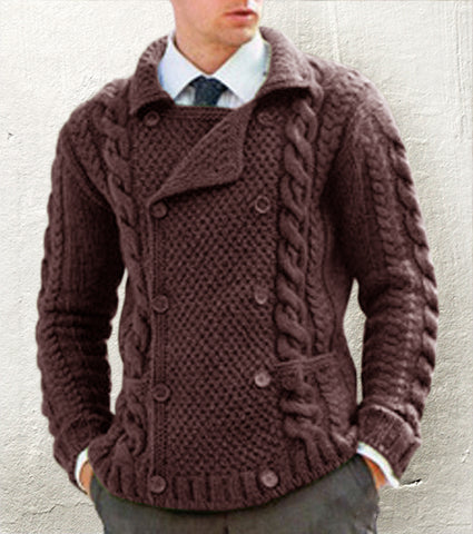 MEN HAND KNIT CARDIGAN 134A - KnitWearMasters