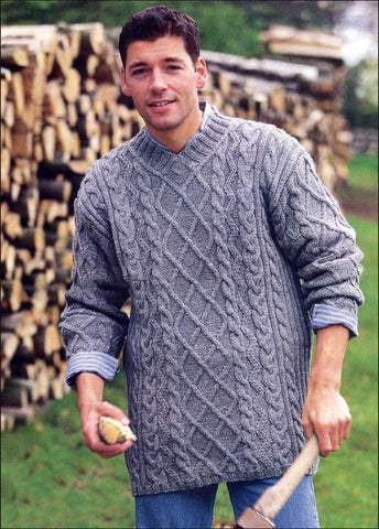 Men's Hand Knit Sweater 215B - KnitWearMasters