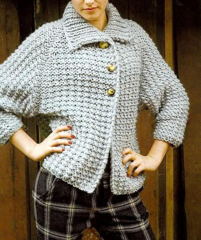 Womens Hand Knit Cardigan.109D