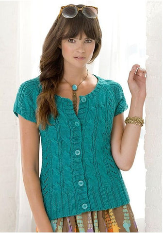 Women's Summer Knitted Blouse, 34S - KnitWearMasters