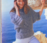 Women Hand Knit Crew Neck Sweater 77G - KnitWearMasters