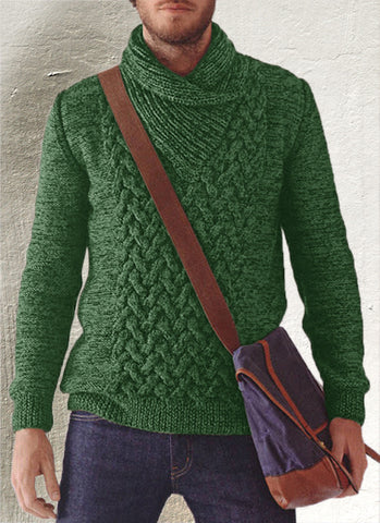 Men's Hand Knitted Shawl Collar Sweater 42B - KnitWearMasters