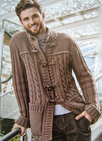 Men's hand knit cardigan 16A - KnitWearMasters