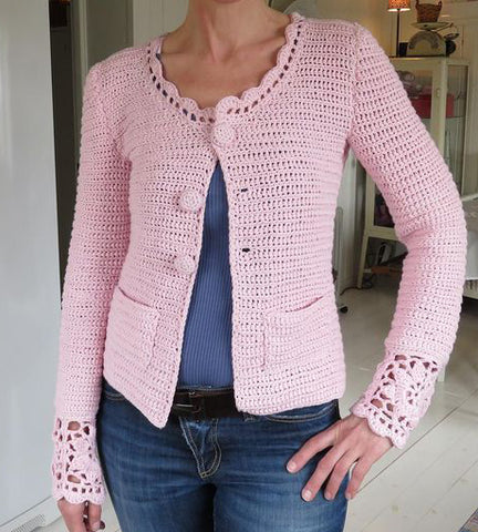 Made-to-order Women Crochet Blouse, 12S - KnitWearMasters