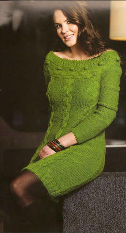 Women's Hand Knit Dress 100E - KnitWearMasters
