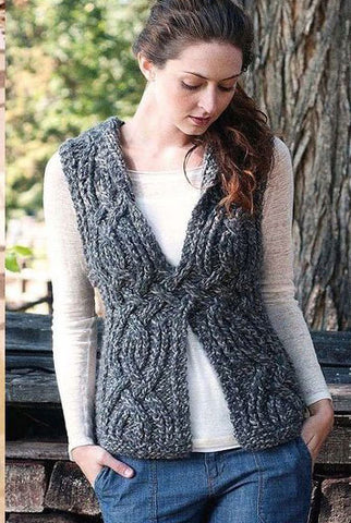 Womens Hand Knit Wool Vest 48N