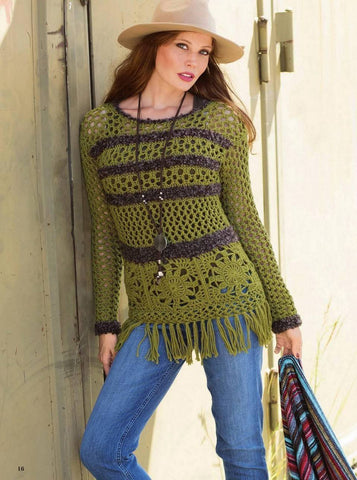 Made-to-order Women Crochet Blouse, 13S - KnitWearMasters
