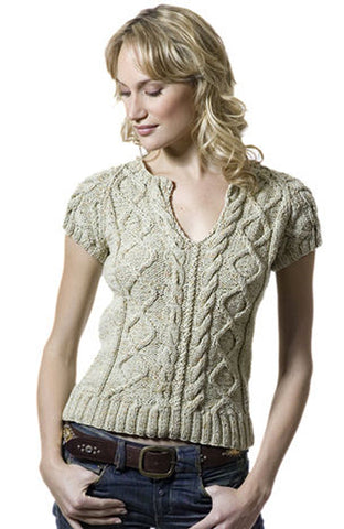 Women's Hand Knit V-neck Sweater 69J - KnitWearMasters