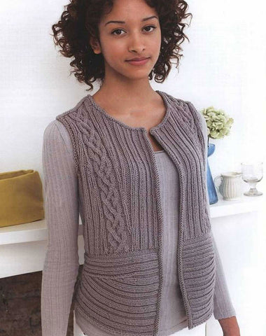 Womens Hand Knit Wool Vest 53N