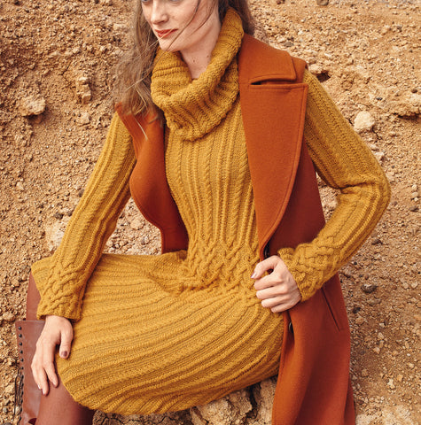Women's Hand Knitted Dress 7E - KnitWearMasters