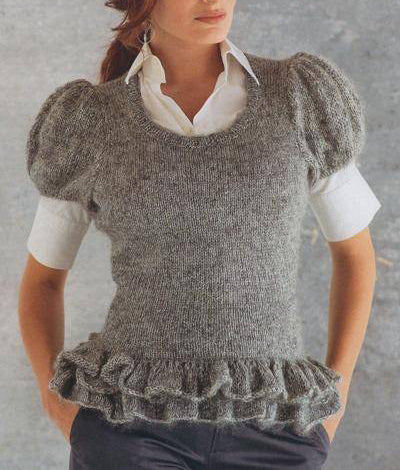 Womens Hand Knit Mohair Sweater 69G