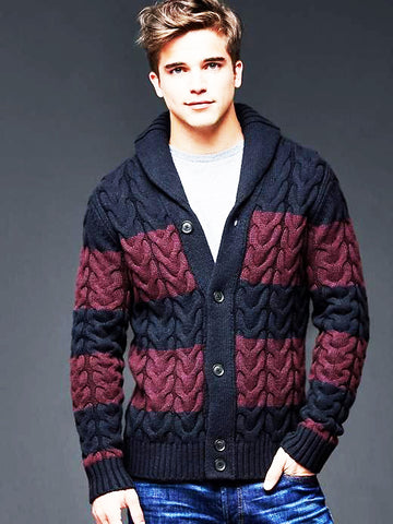 MEN HAND KNIT CARDIGAN 118A - KnitWearMasters