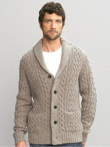 MENS HAND KNIT WOOL CARDIGAN 108A - KnitWearMasters