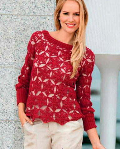 Made-to-order Women Crochet Blouse, 4S - KnitWearMasters