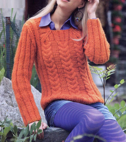 Women's Hand Knit Boatneck Sweater 57C - KnitWearMasters