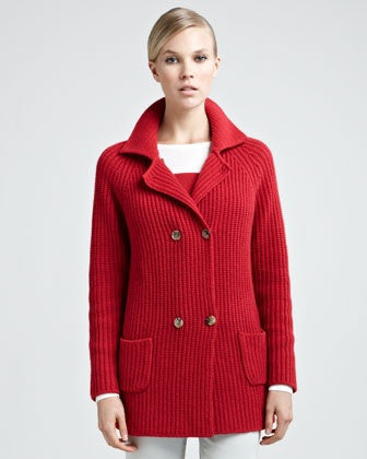 Women's Hand Knitted Wool Cardigan 2D