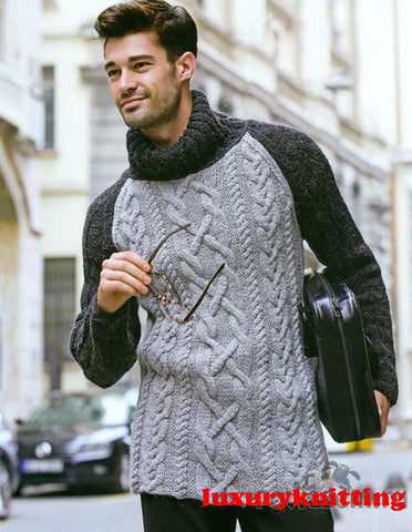 Men's Hand Knit Sweater 152B - KnitWearMasters
