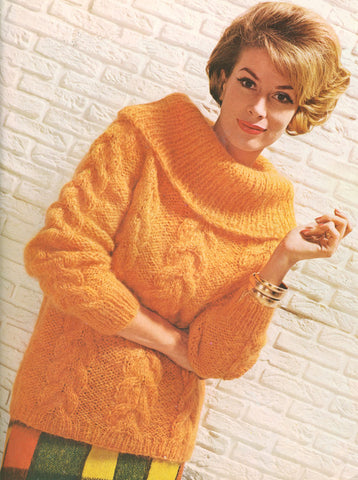 Women's Hand Knit Mohair Sweater 71H - KnitWearMasters