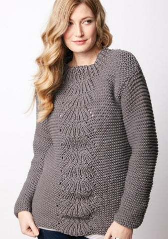 Women's Hand Knit Crew Neck Sweater 85G - KnitWearMasters
