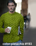 Men's Hand Knit Crewneck Sweater 209B - KnitWearMasters