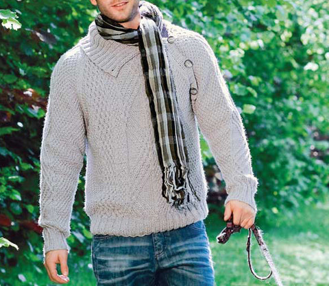 Men Hand Knit Turtleneck Sweater 227B - KnitWearMasters