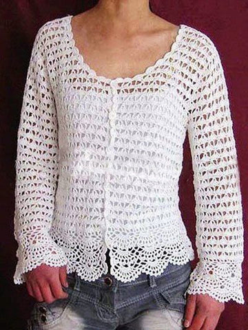 Made-to-order Women Crochet Blouse, 5S - KnitWearMasters