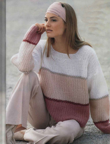 Womens Hand Knit Mohair Sweater 56G - KnitWearMasters