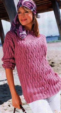 Women Hand Knit Turtleneck Sweater 91K