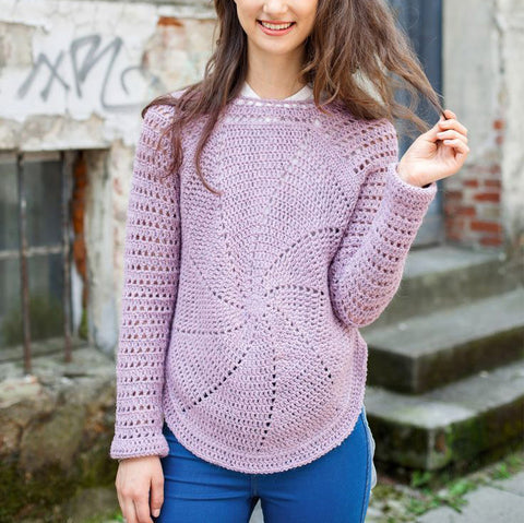 Made-to-order Women Crochet Blouse, 16S - KnitWearMasters