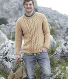 Men's Hand Knit Crew Neck Sweater 145B - KnitWearMasters