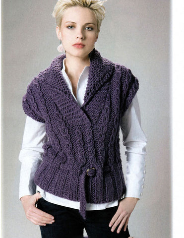 Womens Hand Knit Wool Vest 50N