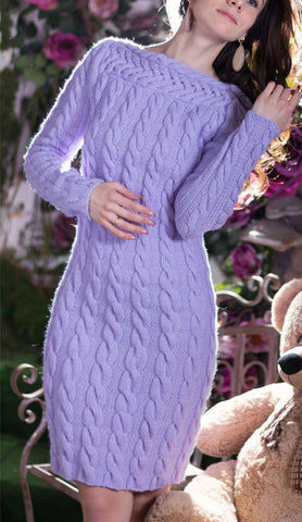 Women's Hand Knit Dress 24E - KnitWearMasters