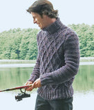 Men Hand Knit Turtleneck Sweater 253B - KnitWearMasters