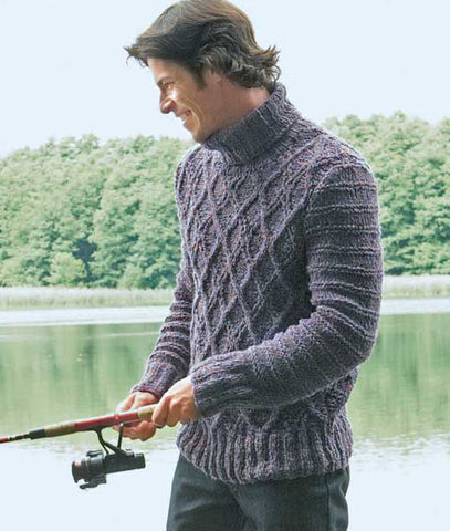 Men Hand Knit Turtleneck Sweater 253B