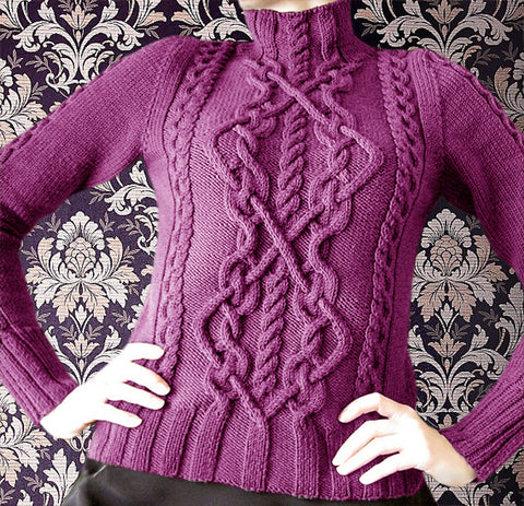 Women's Hand Knitted Turtleneck Sweater 1K