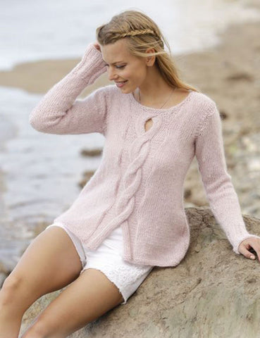 Womens Hand Knit Mohair Sweater 55G - KnitWearMasters
