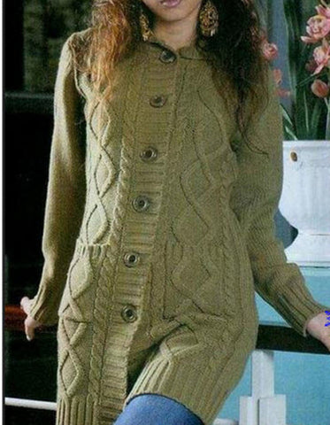 Womens Hand Knit Cardigan.120D