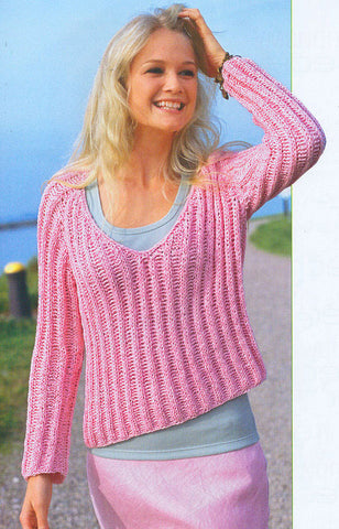Women's Hand Knit V-neck Sweater 45J - KnitWearMasters