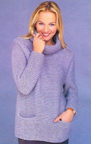 Women Hand Knit Turtleneck Sweater 88K