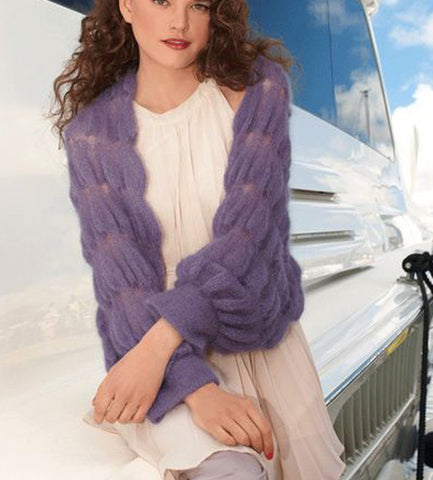 Women's Hand Knitted Mohair Cardigan 1D - KnitWearMasters