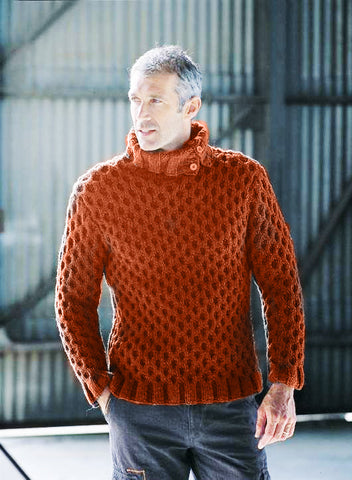 Men's Hand Knit Turtleneck Sweater 208B