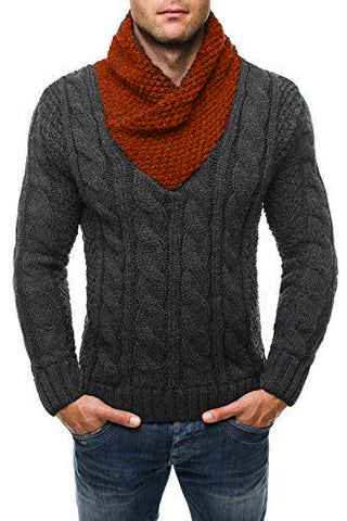MADE TO ORDER Men Hand Knit V-NECK Sweater 207B - KnitWearMasters