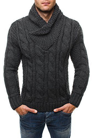 MADE TO ORDER Men Hand Knit V-NECK Sweater 77B - KnitWearMasters