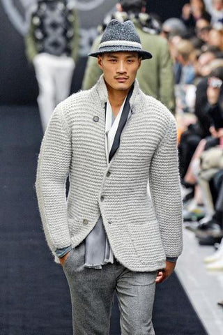 MADE TO ORDER MEN HAND KNIT JACKET 121A - KnitWearMasters
